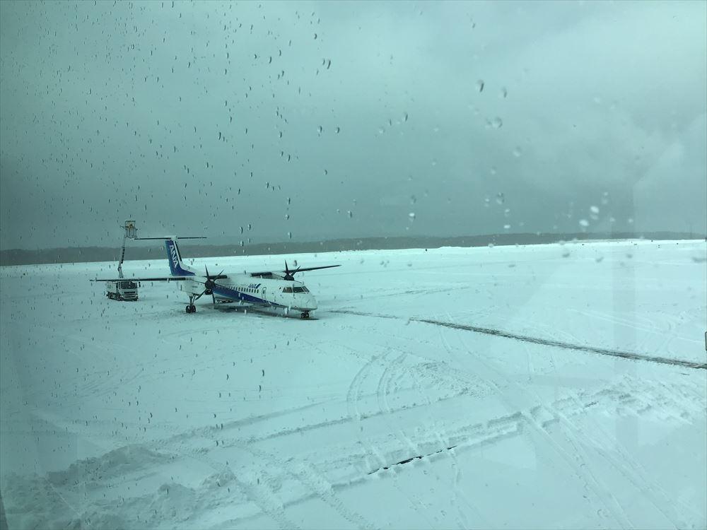 釧路にて。乗るはずだった便が欠航になっちゃいました。