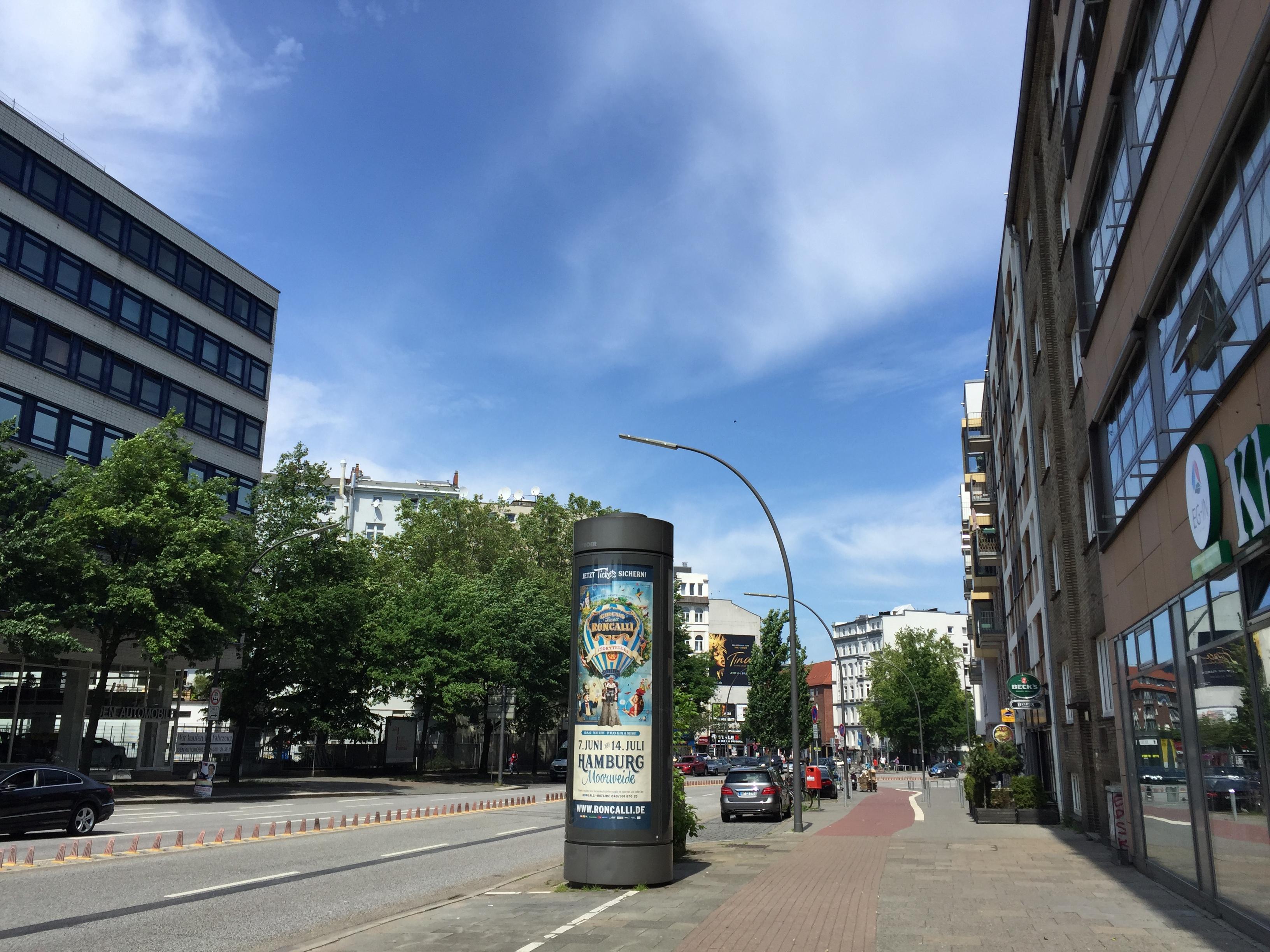 ハンブルクの街角にて