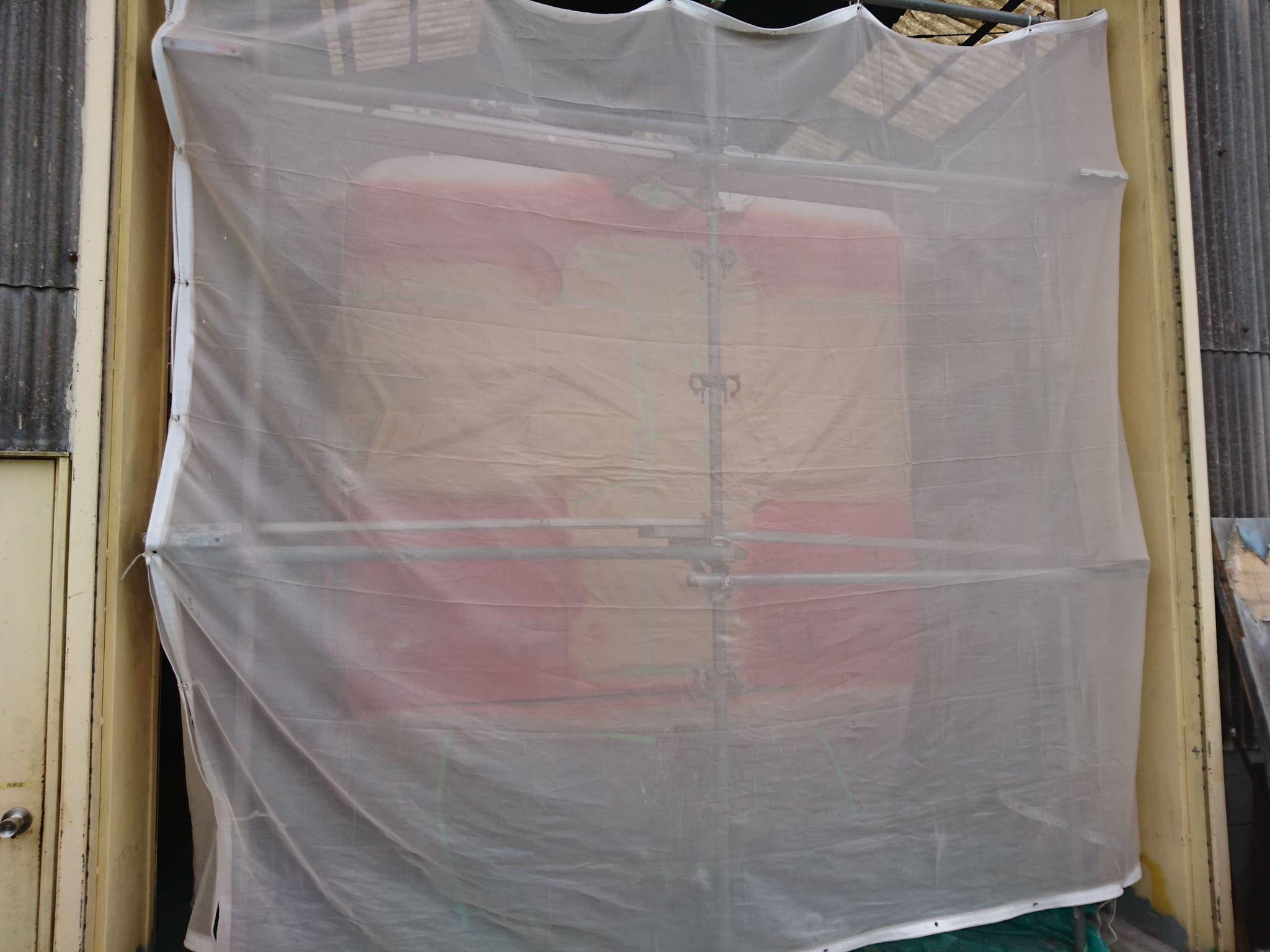 キハ52塗装作業状況