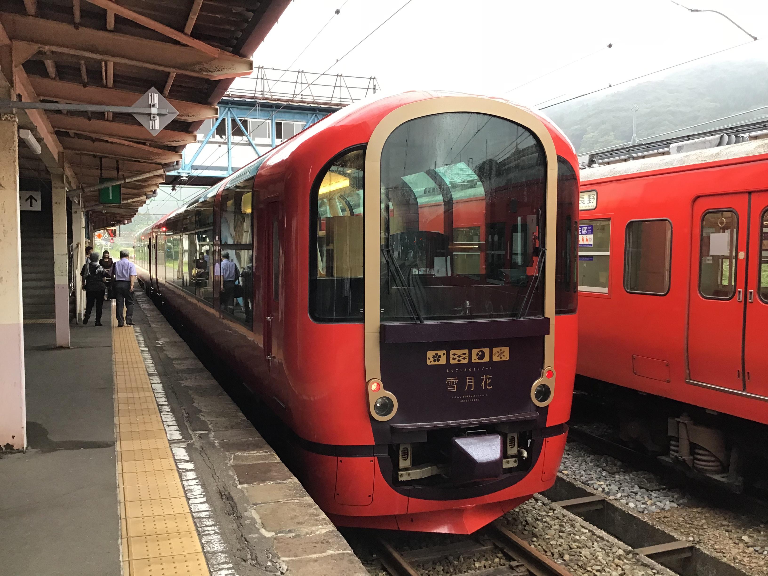 雪月花が新潟駅へ入ります。