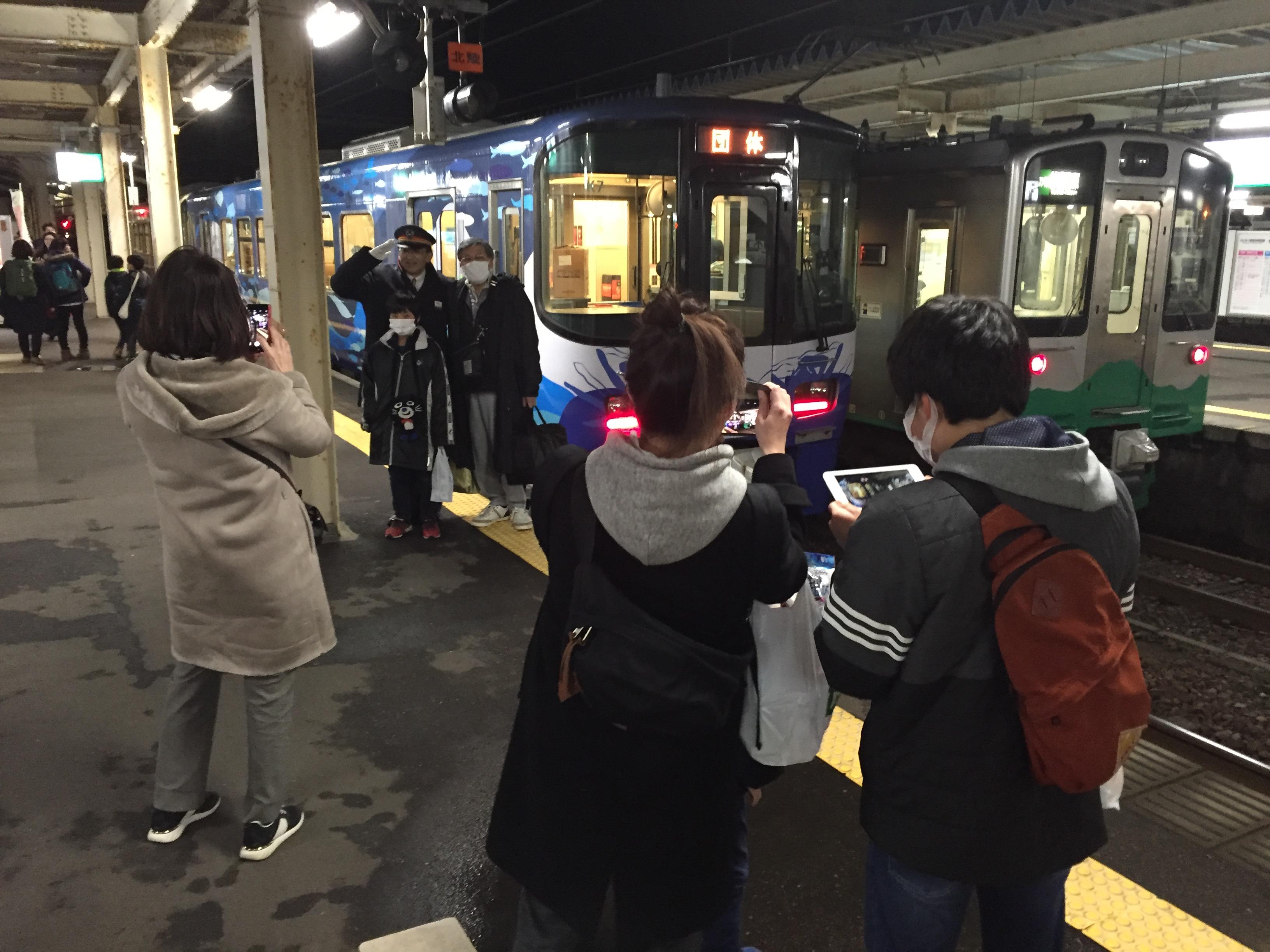 昨晩の夜行列車