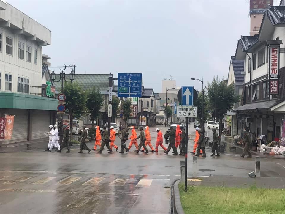熊本県南部人吉市の今日の状況です。