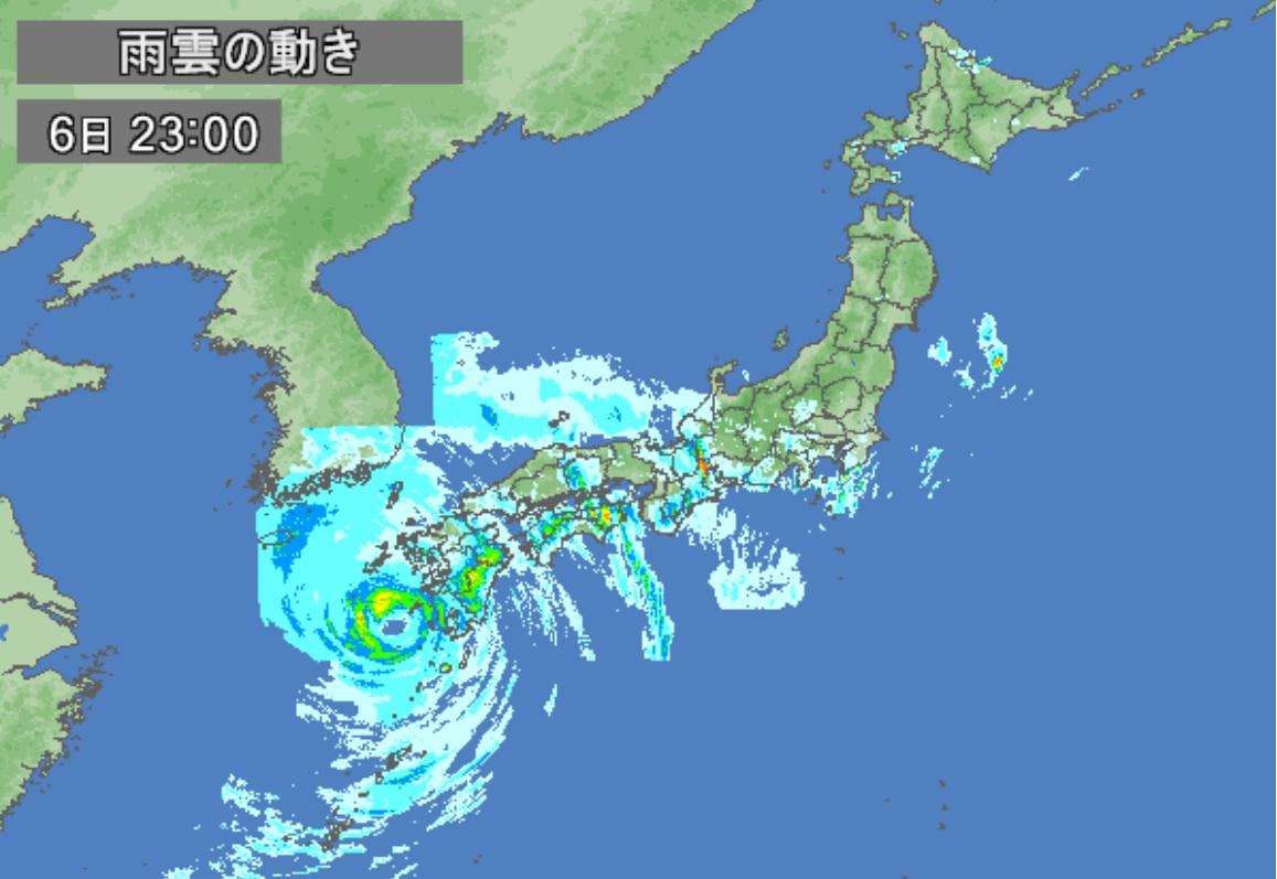 台風が接近してきました。