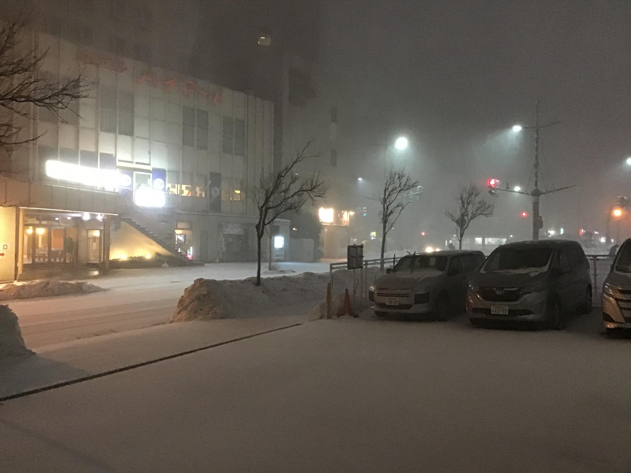 緊急事態宣言と大雪警報