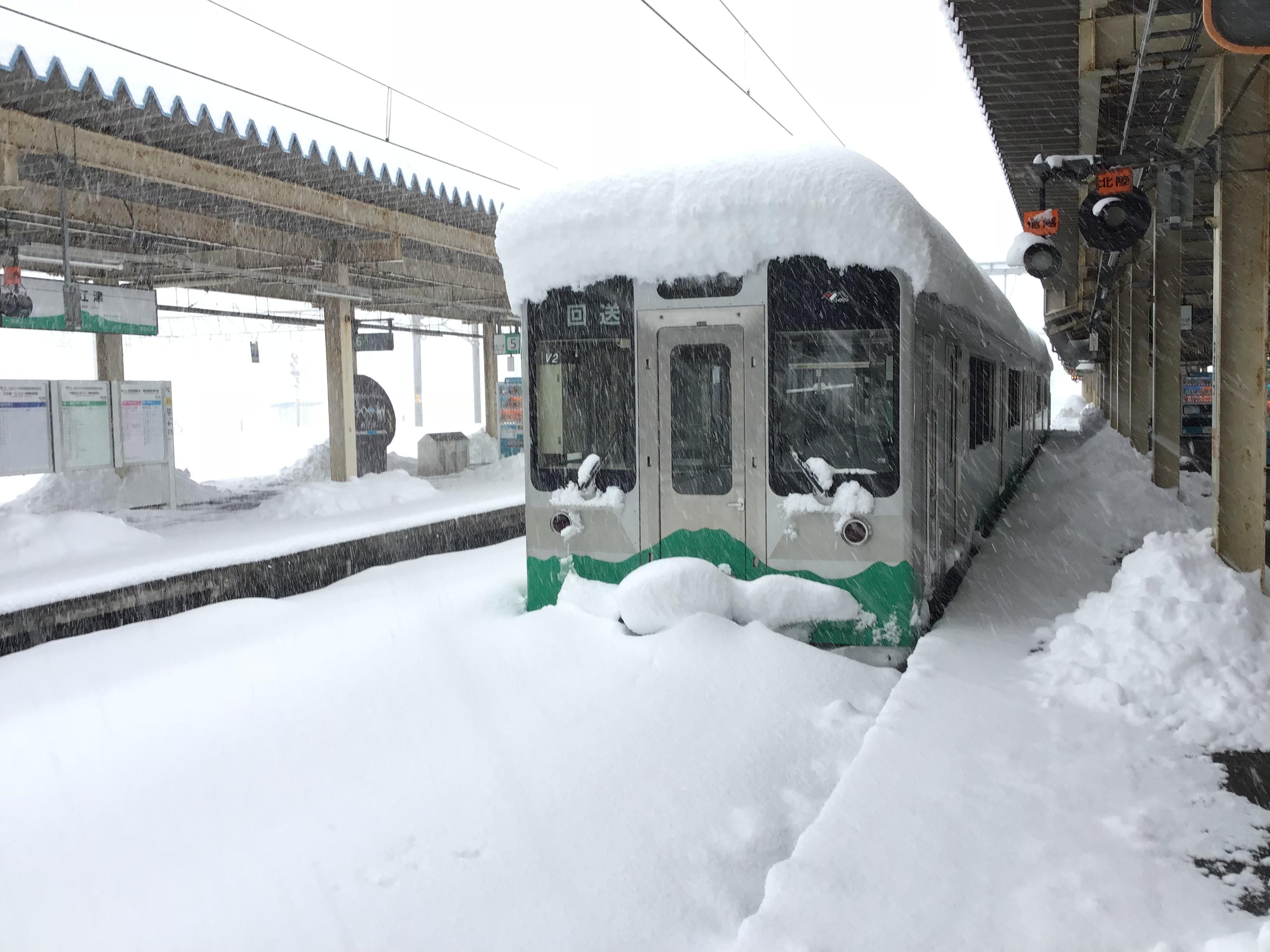 緊急事態宣言下の新潟県直江津駅の現状
